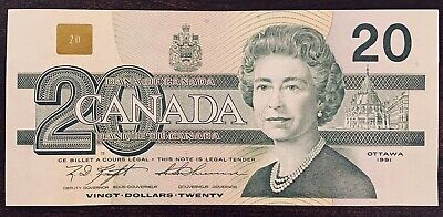 1991 - Canadian Twenty Dollar 20$ Banknote, Bank Of Canada AWC7259423