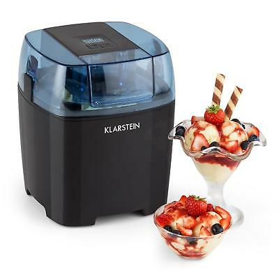 Promo Klarstein Creamberry Machine A Glace Bac Isotherme Yaourt Glace 1,5L Noire