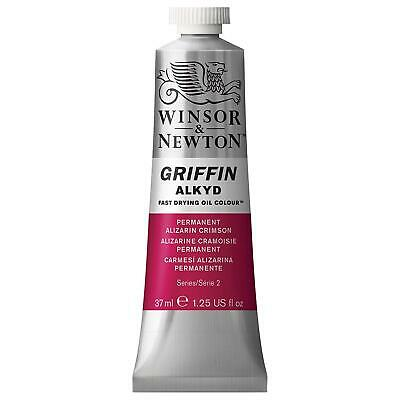 Winsor & Newton Griffin 37Ml Alkyd Fast Drying Oil Colour Tube - Permanent