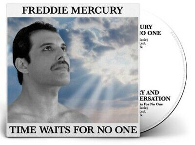 FREDDIE MERCURY TIME WAITS FOR NO ONE CD SINGLE (vinyl picture disc queen poster
