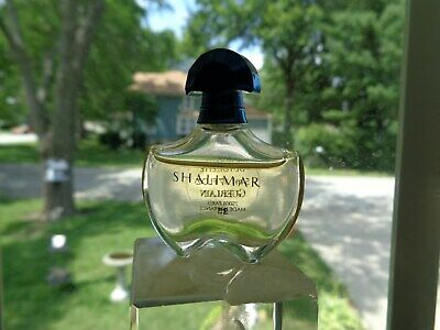 "SHALIMAR GUERLAIN  PERFUME Miniature Bottle 95% full ""MADE IN PARIS FRANCE"""