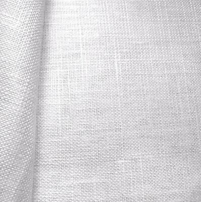 White Cashel Linen 28 Count Zweigart even weave fabric - various size options