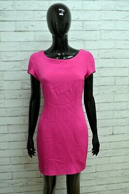 Vestito in SETA Donna GY PARIS Taglia S Abito Dress Tubino Woman Rosa Sartoriale