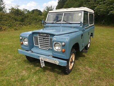 Land Rover Series 3 1983 SWB 88 Restoration Project 2.25L Petrol Runs and Drives