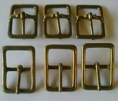 """6 x 25mm, 1"""" solid brass whole wire buckles"""