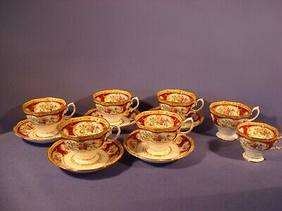 Royal Albert, Lady Hamilton Pattern, Cups And Saucers