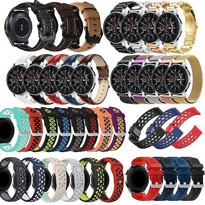 For Samsung Galaxy Watch 42/46mm Silicone Stainless Steel Strap Band Bracelet