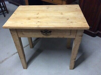 Rustic Victorian? Pine Farmhouse Kitchen Scrub Top Prep Table Nice Patina
