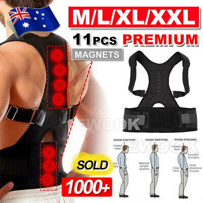 Posture Corrector Clavicle Shoulder Brace Lower Back Support Magnetic Men Women