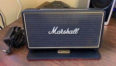 Marshall Stockwell Portable Bluetooth Speaker with Case W/ Flip Cover