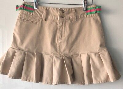 Ralph Lauren Beige Girls Skirt Age 12 Excellent Condition W24""