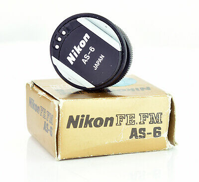 Nikon AS-6 Flash Unit Coupler for FE FM FM2 EM Boxed