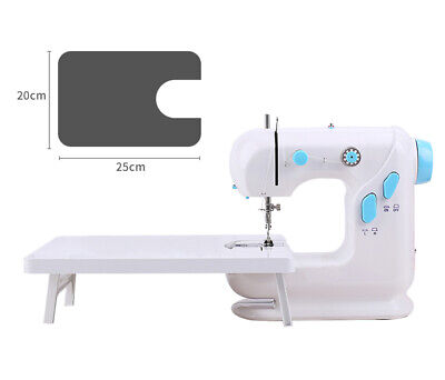 Mini Electric Sewing Machine With LED 2 Speed Mains Powered Foot Pedal UK Plug