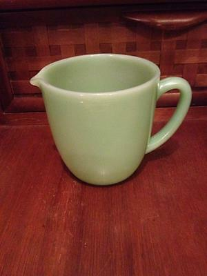 Jadeite Fire King oven ware  Cream / milk pitcher