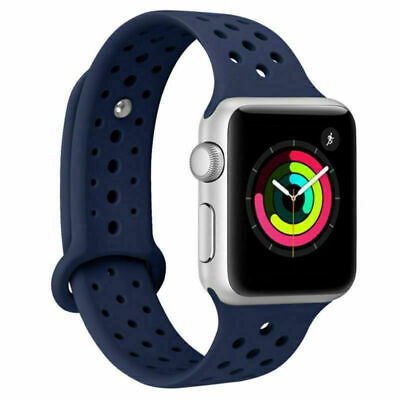 Sport Soft Silicone Band Strap For Apple Watch Series 4/3/2/1 iWatch 42mm 44mm