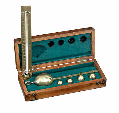 19Th Century Saccharometer Mahogany Set By Bate's