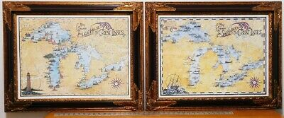 Pictures, Great Lakes Shipwrecks & Lighthouses, Framed (set of 2)