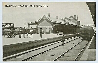 C1910 Npu Valentine & Sons Postcard Of The Goulburn Railway Station Nsw  D55