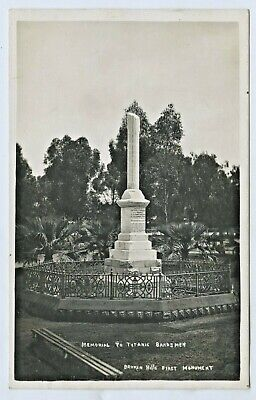 1913 Rp Postcard Monument To The Bandsmen Aboard The Rms Titanic Who Drowned D57