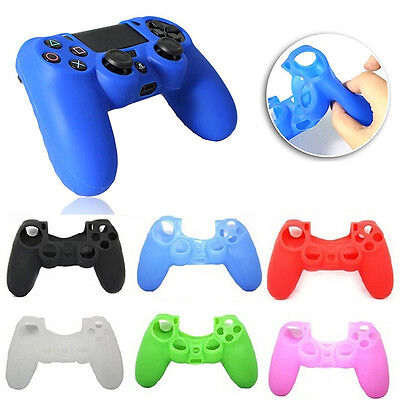 Soft Silicone Rubber Skin Grip Cover Case for PlayStation 4 PS4 Controller Game
