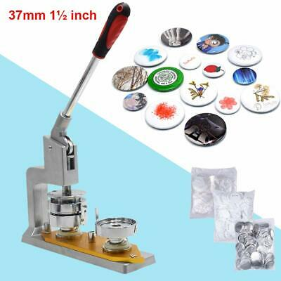 37/44/50/58mm Button Maker Machine Badge Making Pin Punch Press W/ Circle Cutter