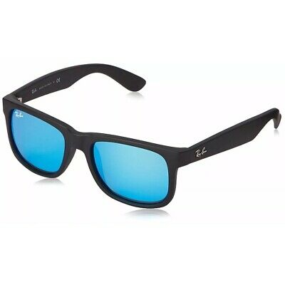 RayBan Justin Color Mix Sunglasses - Black Blue Mirror - RB4165 622/55 54-16