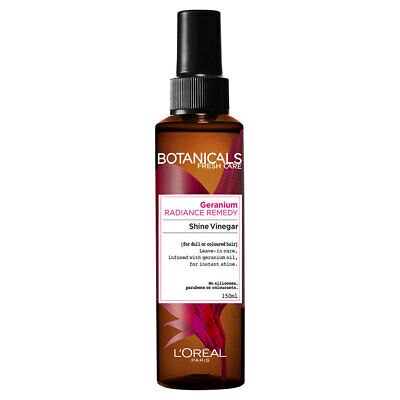 Loreal Paris 150ml Hair Care Botanicals Geranium Oil Reviving Shine Vinegar