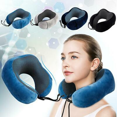 U-shaped Memory Foam Travel Pillow Neck Support Head Rest Airplane Soft Cushion@