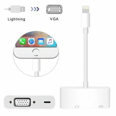 VGA Cable Adapter HD 1080p Converter for iPhone X XS Max XR iPad Mini iPod Touch