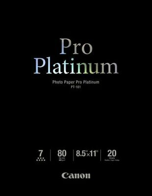 Canon Photo Paper Pro Platinum, 8.5 x 11 Inches, (80 lbs / 300gsm) 20 Sheets