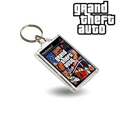 Grand Theft Auto Vice City PS2 Keyring Plastic Style Key Chain  GTA Inspired