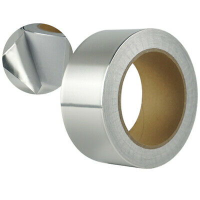Aluminium Foil Tape Roll Self Adhesive Insulation Reflective Duct Silver 50mm