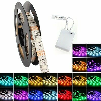 60 LED Strip Light Waterproof IP65 2M 5050 RGB Dimmable Color Change Backlight