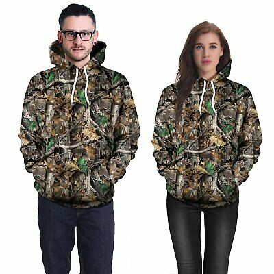 Long Sleeve Ghillie Suits 3D Camouflage Hoodie Hunting Camo Suits Clothes M/L