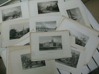 1847 Collection 62 engravings UK Great Britain London Dublin Newcastle Sheffield