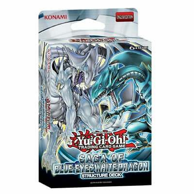 YuGiOh Saga of Blue-Eyes White Dragon Structure Deck SDBE New & Sealed TCG Cards