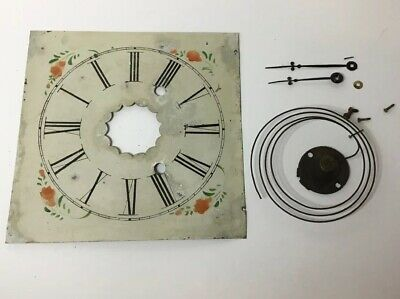 E N WELCH mid-1850s 30-hour brass clock Face, Hands And Gong For replacements