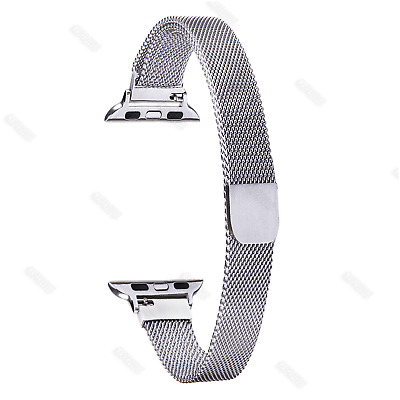 Milanese Loop Stainless Steel Band Wrist Strap for Apple Watch 38mm Silm Mesh