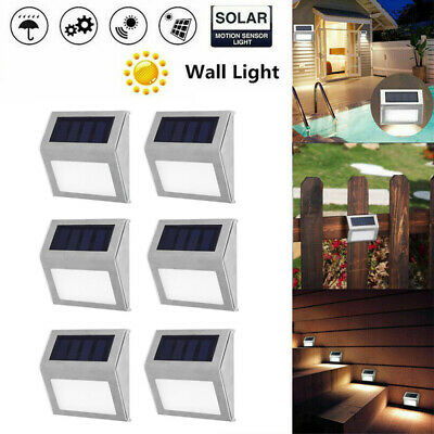 Super Bright Solar Powered LED Outdoor Wall Deck Lights Garden Security Lighting