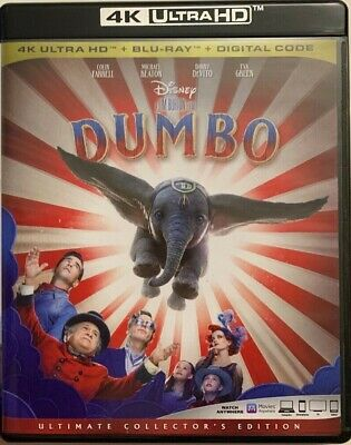 Disney Dumbo 2019 4K Ultra Hd Blu Ray 2 Disc Set Free World Wide Shipping Family