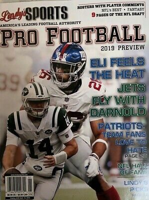 LINDYS SPORTS PRO FOOTBALL PREVIEW GUIDE  2019 NFL athlon illustrated fantasy