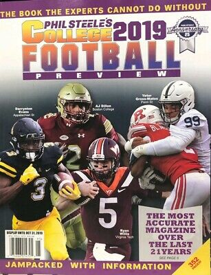 PHIL STEELE'S COLLEGE FOOTBALL PREVIEW 2019 athlon lindys illustrated sports