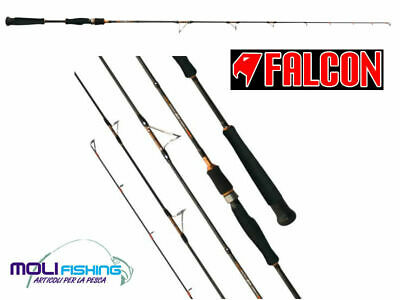 Canna Pesca Slow Pitch Vertical Jig Falcon Rubber Slow Pitch 1.98 Cm - 60-250 G