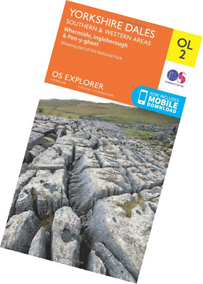 Ordnance Survey Explorer OL2 Yorkshire Dales - Southern & Western Areas Map With