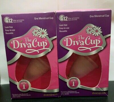 The Diva Cup Model 1, lot of 2!