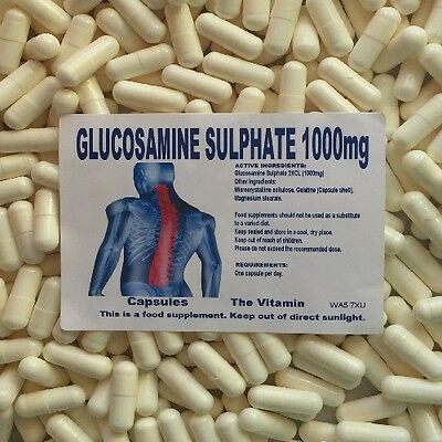 The Vitamin Glucosamine Sulphate 2KCL 1000mg 60 CAPSULES - Bagged