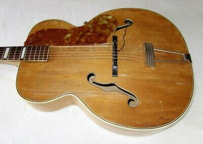 """Rare 1950 Kay SHERWOOD DELUXE 17"""" High-End Archtop Guitar w/Spruce Top, Pickup!!"""