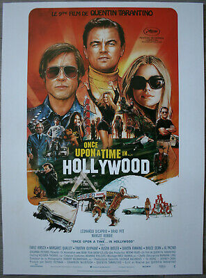 ONCE UPON A TIME IN HOLLYWOOD Affiche Cinéma ROULEE 53x40 Movie Poster TARANTINO