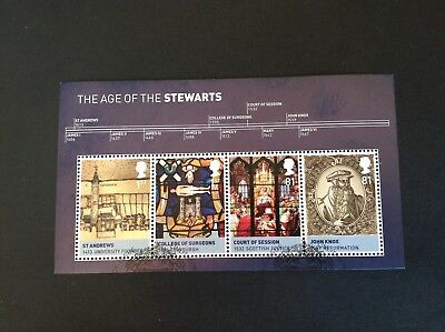 Gb Qe2 2010 Kings And Queens The House Of Stewart Ms Full Set Very Fine Used