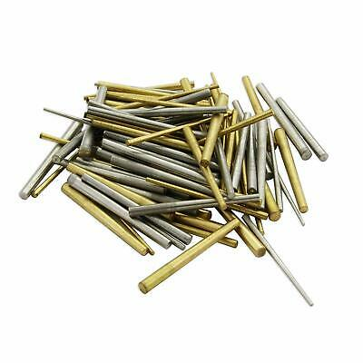 100 x Clock taper pins steel brass assorrted mix sizes pin tapered repairs parts